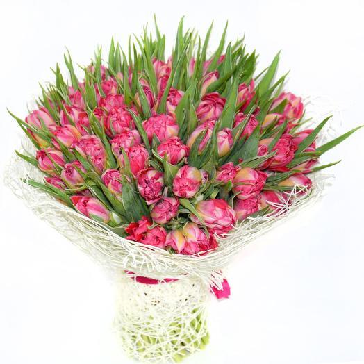 75 шикарных тюльпанов: букеты цветов на заказ Flowwow