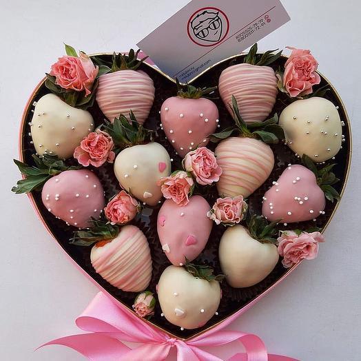 Сердце Surprise: букеты цветов на заказ Flowwow