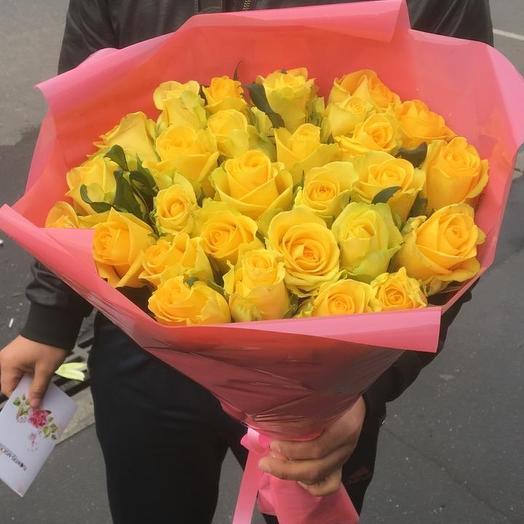 29 жёлтых роз: букеты цветов на заказ Flowwow