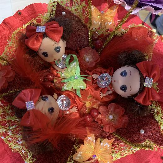 Букет из игрушек-куколки: букеты цветов на заказ Flowwow