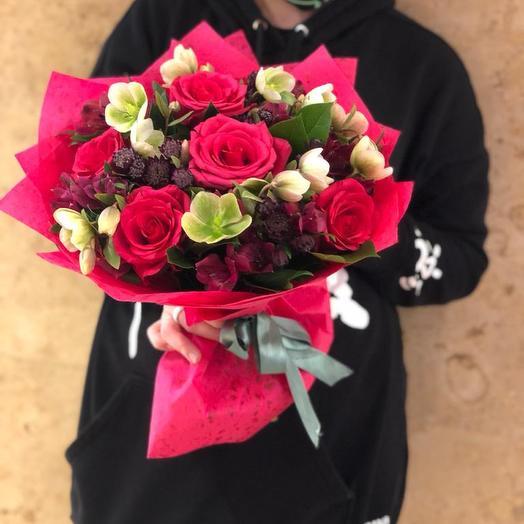 """Букет """"Малиновый"""": букеты цветов на заказ Flowwow"""