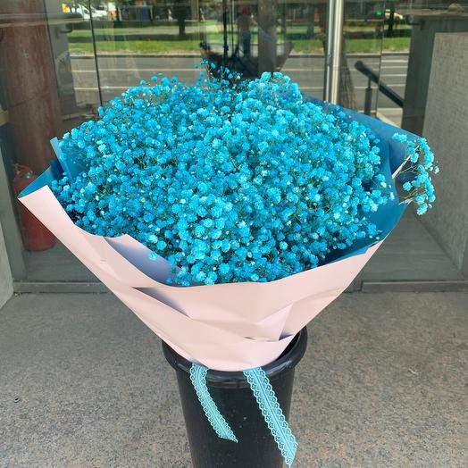 Большое голубое облачко гипсофилы: букеты цветов на заказ Flowwow