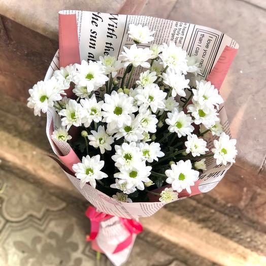 Букет кустовых хризантем «Романтика»