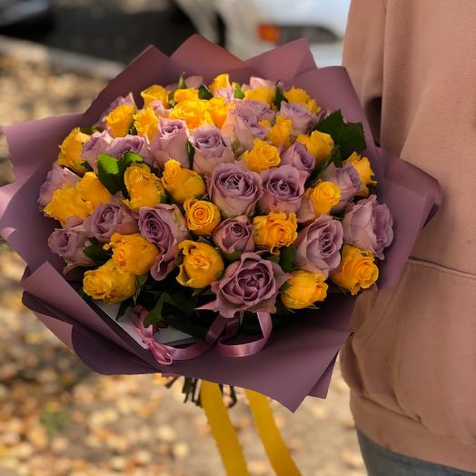 Букет микс из 51 розы