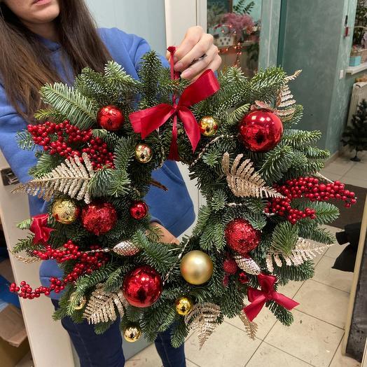 Рождественский венок 🎄