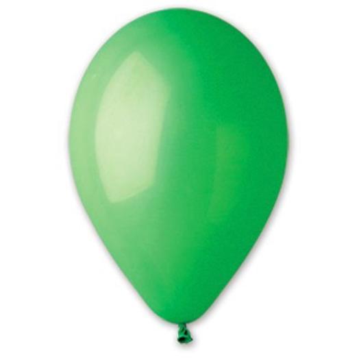 """Шар с гелием 12""""/30 см зеленый пастель"""