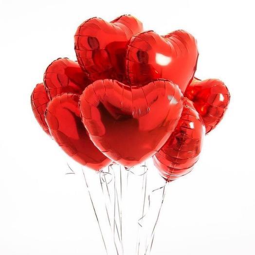 Сет фольгированных шаров «Сердце»