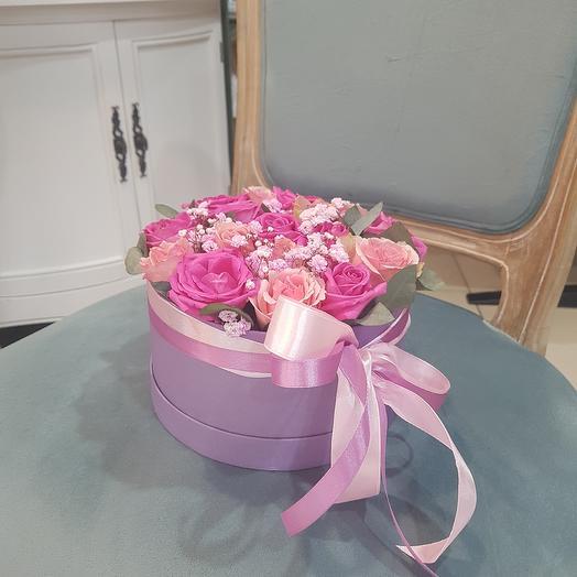 """Цветы в коробке """"Милая"""""""