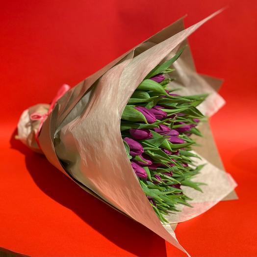Тюльпаны фиолетовая