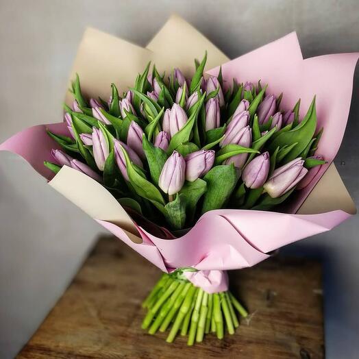 Моно букет из тюльпанов