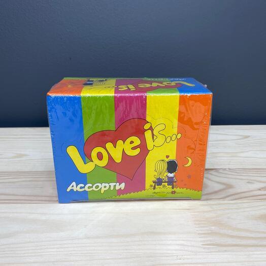 Жевательная резинка «Love is...» 100шт
