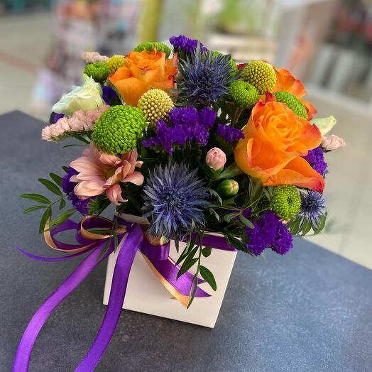 Цветы в коробке «Летний бум»