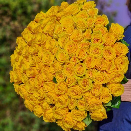 Роза Эквадор 80 см 101 шт
