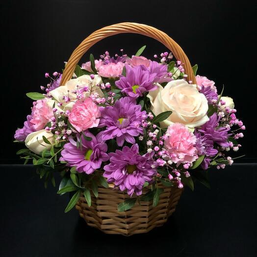 Корзина с цветами «Для Вас»