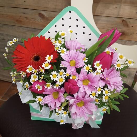 Цветы в конверте