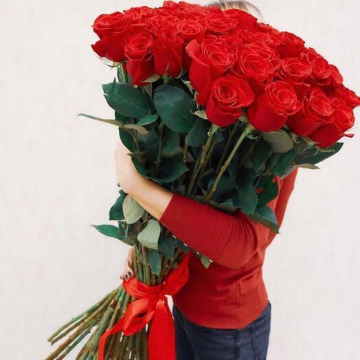 Розы эквадор 90 см