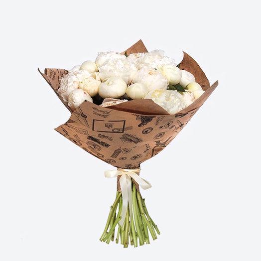 Жемчужная коллекция ( белые Пионы) : букеты цветов на заказ Flowwow