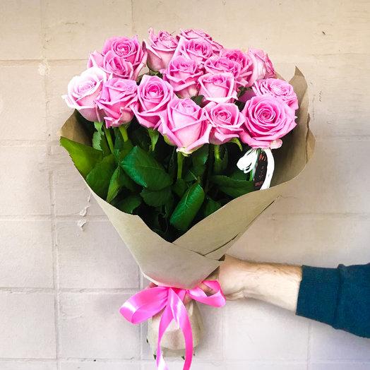 Букет из розовых роз «Нежность»: букеты цветов на заказ Flowwow