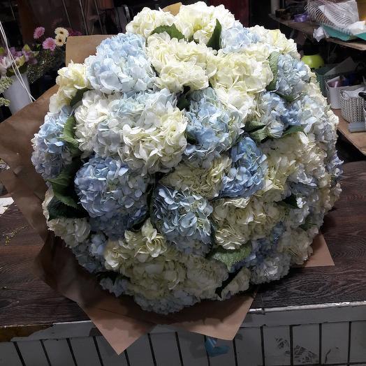 Весенний букет из Гортензия: букеты цветов на заказ Flowwow
