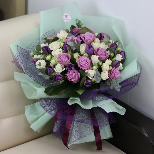 Весенний шедевр: букеты цветов на заказ Flowwow