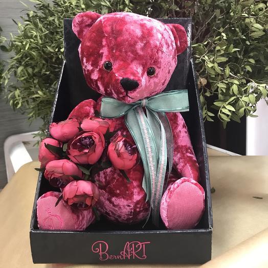 Игрушка медведь: букеты цветов на заказ Flowwow