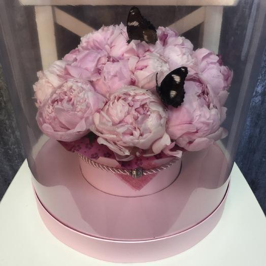 Живые бабочки с пионами: букеты цветов на заказ Flowwow