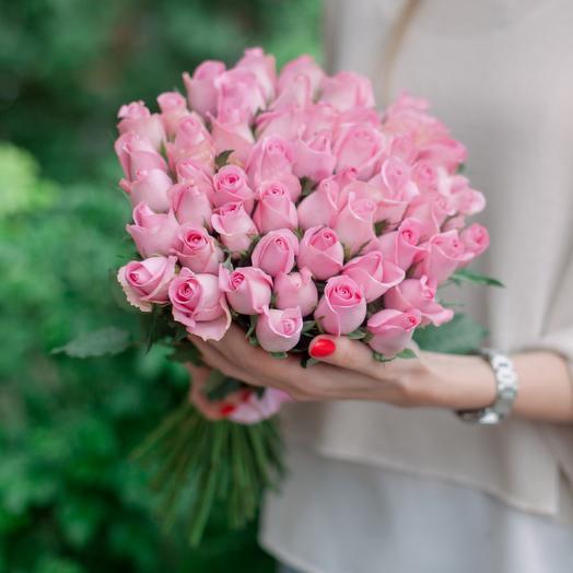 "Букет ""51 Розовой розы"": букеты цветов на заказ Flowwow"