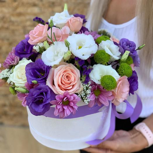 "Композиция в коробке ""Летняя прогулка"": букеты цветов на заказ Flowwow"