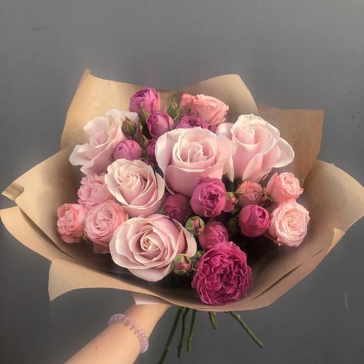 Воздушный поцелуй💓: букеты цветов на заказ Flowwow