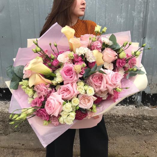 """Сборный букет """"Сливочная нежность"""": букеты цветов на заказ Flowwow"""