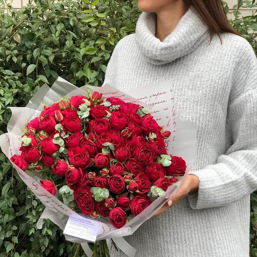 Монобукет кустовой пионовидной ро: букеты цветов на заказ Flowwow