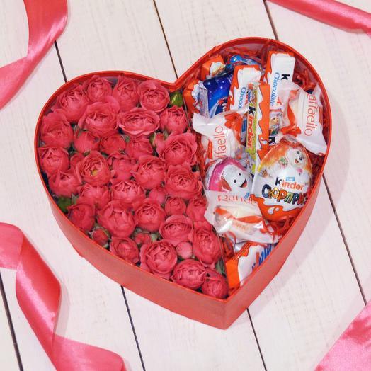 Сладкое сердце1: букеты цветов на заказ Flowwow