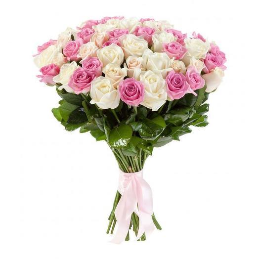 """Букет роз """"Схарная вата"""": букеты цветов на заказ Flowwow"""