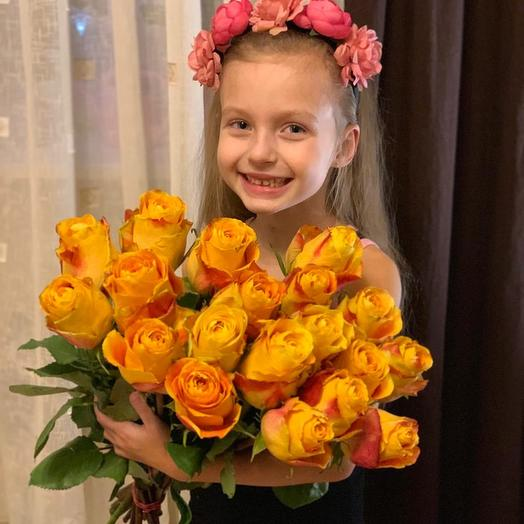 Эквадорские розы 29 шт: букеты цветов на заказ Flowwow