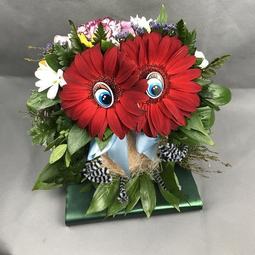 Мудрая сова: букеты цветов на заказ Flowwow