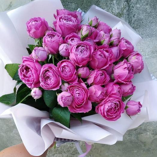 Букет пионовидной розы Мисти Баблс: букеты цветов на заказ Flowwow