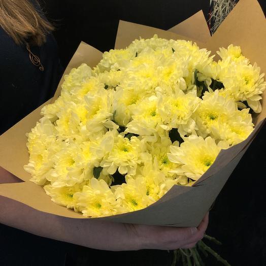 Хризантема желто кремовая: букеты цветов на заказ Flowwow