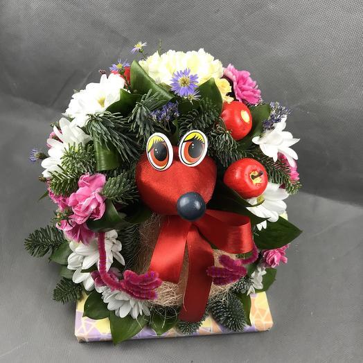 Милый ёж: букеты цветов на заказ Flowwow