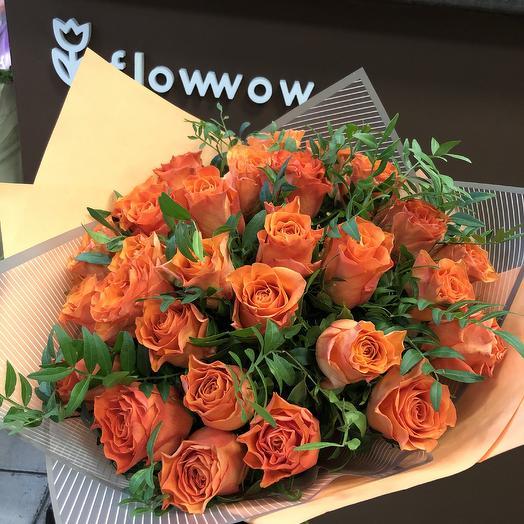 Оранжевое настроение: букеты цветов на заказ Flowwow