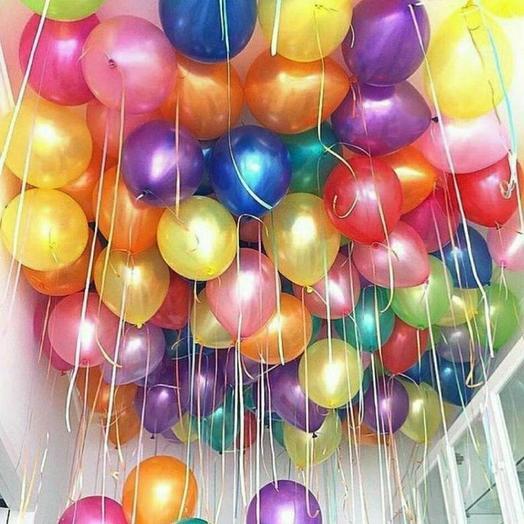 Гелиевые шары  50 шт