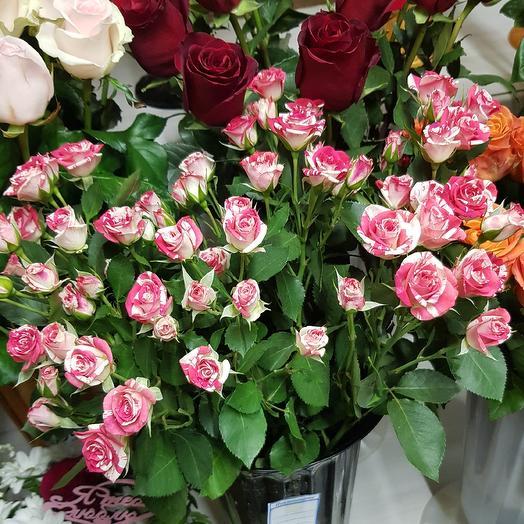 Кустовая роза 5 шт