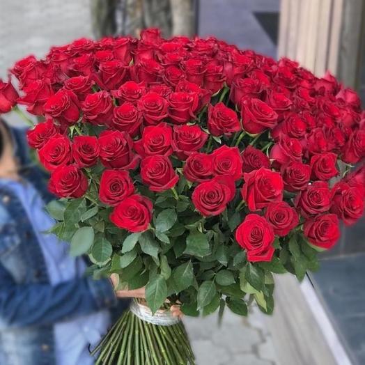 101 Роза 70 см: букеты цветов на заказ Flowwow