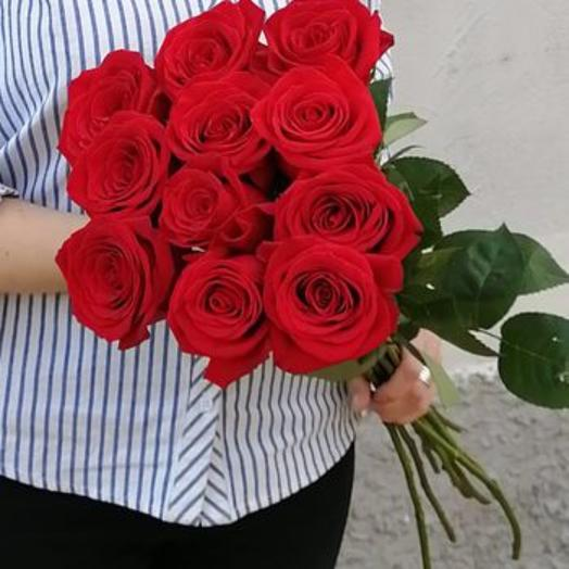 Букет из 11 красных роз класса премиум