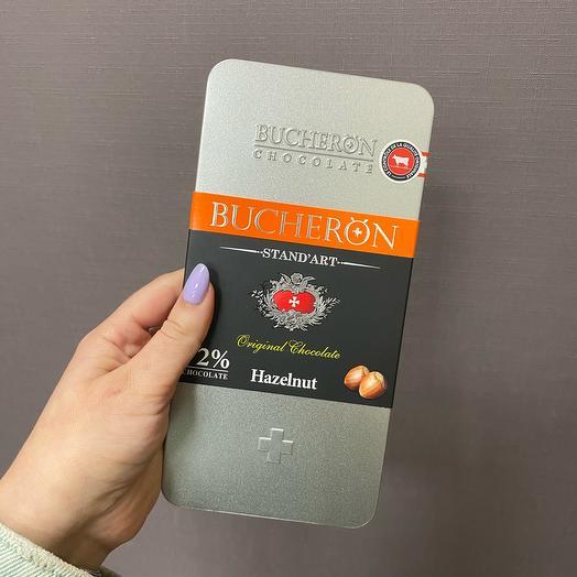 Шоколад   «BUCHERON», горький с фундуком