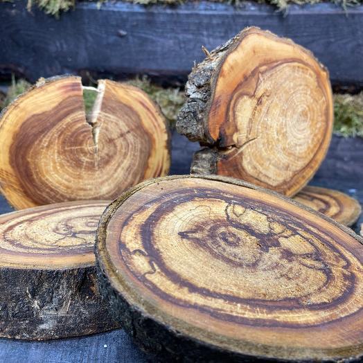 Подсвечник из дерева- 1 шт. Яблоня