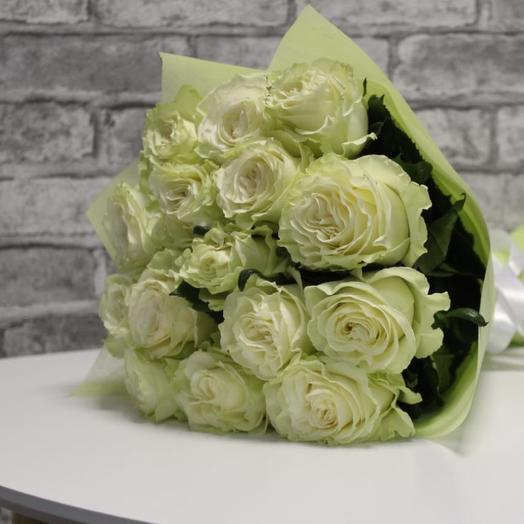 15 белых роз Эквадор