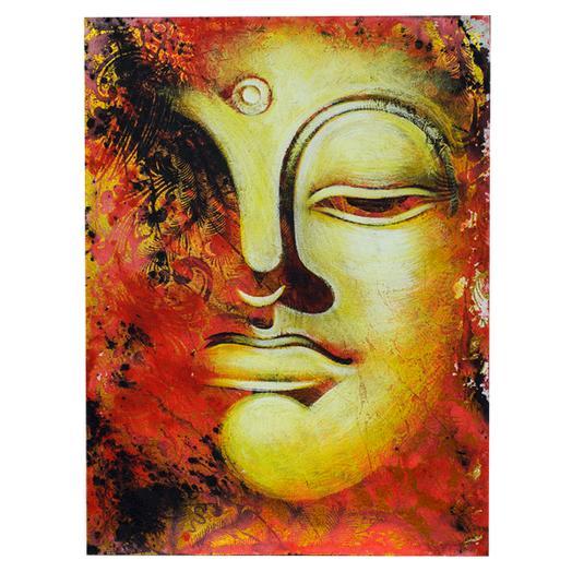 Живописная картина с ликом Будды 60х80см (масло)
