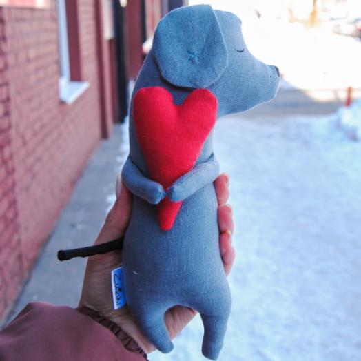 Валентинка Сердечный Пёс