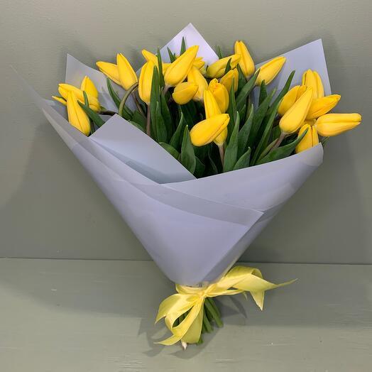 Желтые тюльпаны 25 шт