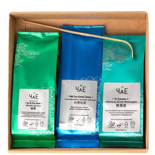 Чайный набор Зеленый чай 3 вида в подарочной упаковке